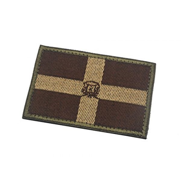 Zhikang68 Airsoft Morale Patch 2 Dominican Republic Flag National Patch Sew On Tactical Embroidered Applique Country Badge Motorcycle Tactical Tags Morale Emblem for Travel Backpack Hats Jackets Team Uniform (Dominican Brown)