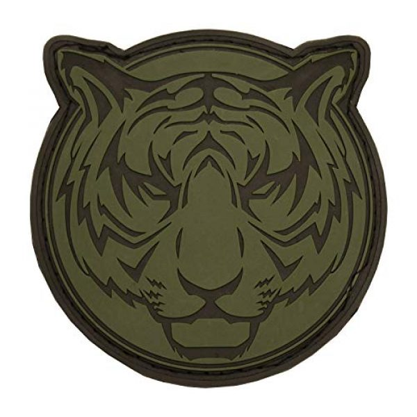 BASTION Airsoft Morale Patch 1 Bastion Tactical Combat Badge PVC Morale Patch Hook and Loop Patch - Tiger ODG