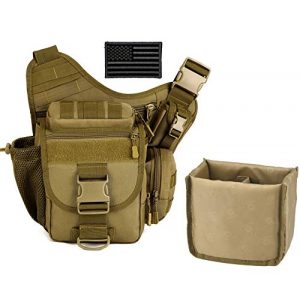 Protector Plus Tactical Pouch 1 Protector Plus Tactical DSLR Camera Messenger Bag Military Sling Crossbody Pack Assault Range Chest Shoulder Backpack EDC Diaper Daypack (Insert Bag & Patch Included)