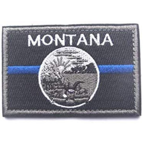 Tactical Embroidery Patch Airsoft Morale Patch 1 State Flag of Montana Embroidery Patch Military Tactical Morale Patch Badges Emblem Applique Hook Patches for Clothes Backpack Accessories