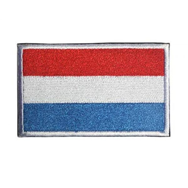 Tactical Embroidery Patch Airsoft Morale Patch 2 2pcs Luxembourg Flag Embroidery Patch Military Tactical Morale Patch Badges Emblem Applique Hook Patches for Clothes Backpack Accessories