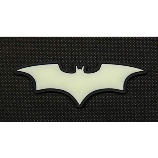 BritKitUSA Airsoft Morale Patch 1 BritKitUSA The Dark Knight Batman 3D PVC Glow in The Dark GITD SWAT Rubber Patch Hook Backing