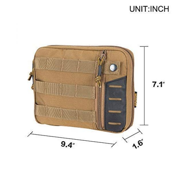 EXCELLENT ELITE SPANKER Tactical Pouch 7 Tactical Molle EDC Pouch Utility Molle Pouch Coyote Brown