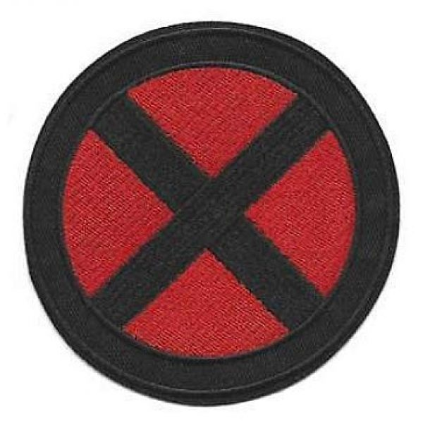 Embroidery Patch Airsoft Morale Patch 2 2 Pieces X-Men Military Hook Loop Tactics Morale Embroidered Patch (color3)
