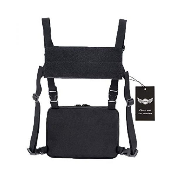 AegisTac Tactical Pouch 2 AegisTac Tactical Chest Rig Bag Recon Kit Bags Combat Chest Pack Radio Chest Harness Molle Vest Bags Front Pouch Tool Pouch EDC Carry Pouch