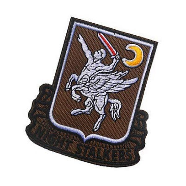Embroidery Patch Airsoft Morale Patch 3 160th SOAR Night Stalkers Airborne Regiment Operation Military Hook Loop Tactics Morale Embroidered Patch (color2)