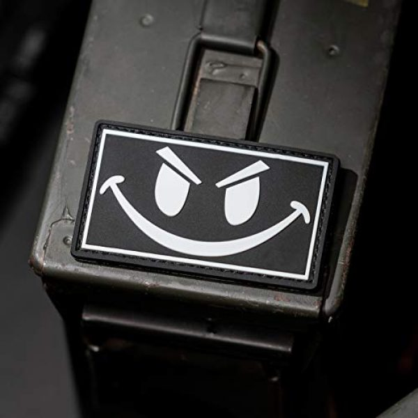 NEO Tactical Gear Airsoft Morale Patch 2 The Original Glow in The Dark Smiley Face PVC Rubber Morale Patch - Crossfit Patch by NEO Tactical Gear Morale Patch