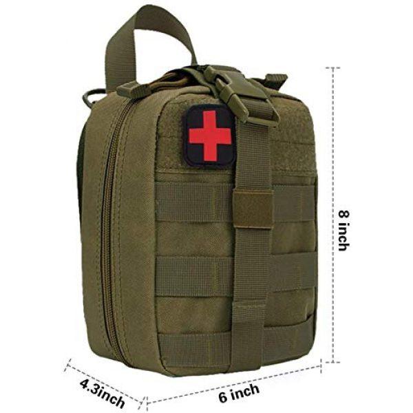 ACOMOO Tactical Pouch 2 ACOMOO Outdoor Tactics MOLLE Rip-Away Medical Emergency Rescue Bag Outdoor Medical Bag Climbing Climbing