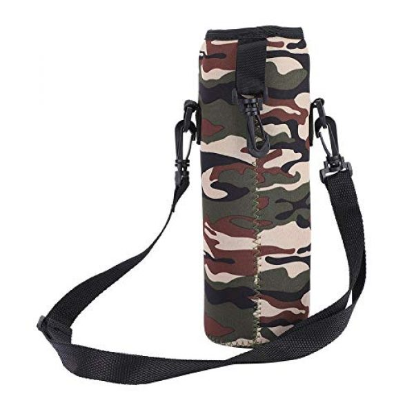 Qioni Tactical Pouch 1 Qioni Scald-Proof Case with Strap Water Bottle Bag, Water Bottle Sling Bag Water Bottle Case, Thermal Holder Bag for Outdoor Use Sports Camping Hiking