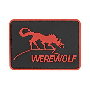 G-Force Airsoft Morale Patch 1 Werewolf PVC Morale Patch - RED