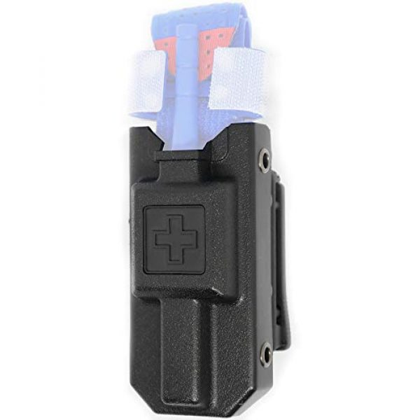 """Aid&Aim Tactical Tactical Pouch 1 Tourniquet Holder Pouch by Aid&Aim Tactical for Gen7 Tourniquet or Older Gen Tourniquets- Holster Case with Belt Clip Fits Molle Equipment,Police Gear, Duty and Utility Belt up to 2"""" Wide"""