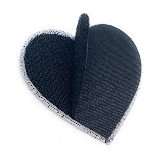 Funiverse Airsoft Morale Patch 3 Bulk 5 Pack of Thin Blue Line Police Heart Morale Patch - Show Your Support for Law Enforcement