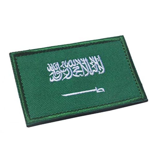 Tactical Embroidery Patch Airsoft Morale Patch 2 2pcs Saudi Arabia Flag Embroidery Patch Military Tactical Morale Patch Badges Emblem Applique Hook Patches for Clothes Backpack Accessories