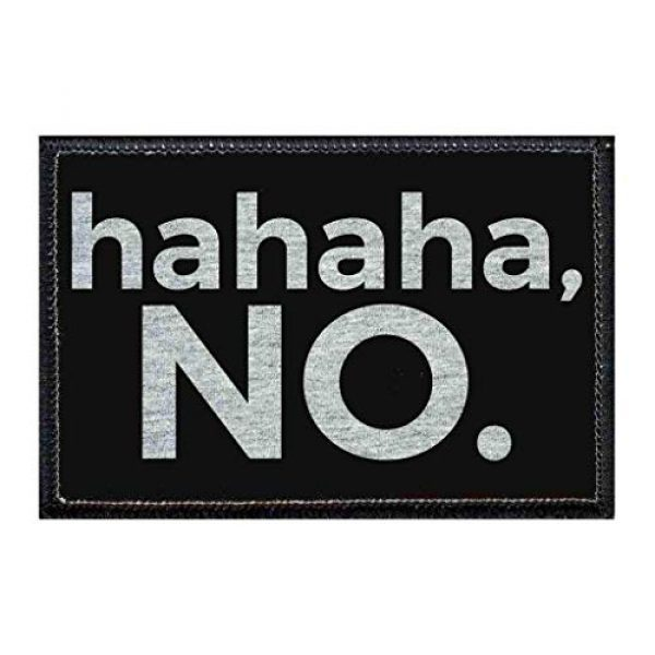 P PULLPATCH Airsoft Morale Patch 1 Ha Ha Ha, No. Morale Patch | Hook and Loop Attach for Hats, Jeans, Vest, Coat | 2x3 in | by Pull Patch