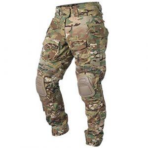 IDOGEAR Tactical Pant 1 IDOGEAR G3 Combat Pants with Knee Pads Multicam Tactical Pant Rip-Stop Trousers