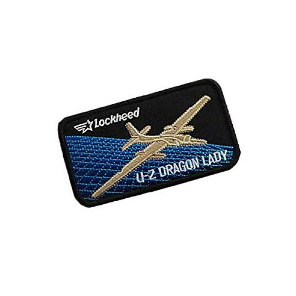 Embroidery Patch Airsoft Morale Patch 2 US Air Force Lockheed U-2 Dragon Lady Military Hook Loop Tactics Morale Embroidered Patch