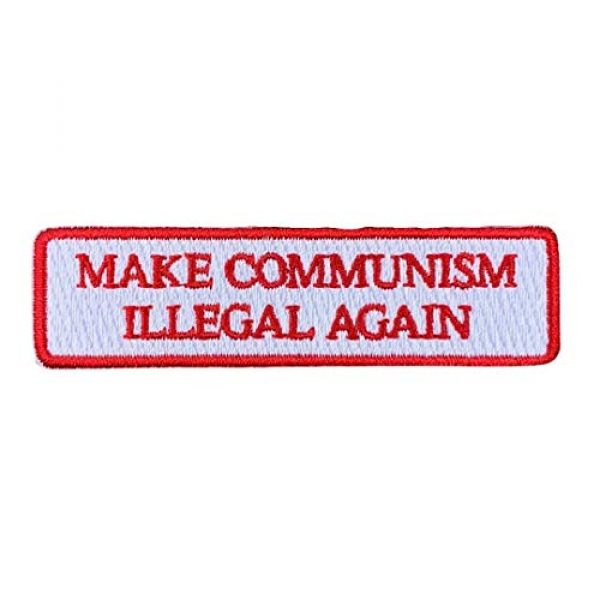 Violent Little Machine Shop Airsoft Morale Patch 1 Make Communism Illegal Again Embroidered Morale Patch