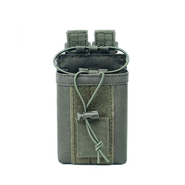 """abcGoodefg Tactical Pouch 4 abcGoodefg 1000D Adjustable Molle Tactical Pouch Radio Holster Case Walkie Talkie Holder Duty Belt, 5.3""""x 3.5""""x 1.6"""" (Amy Green)"""