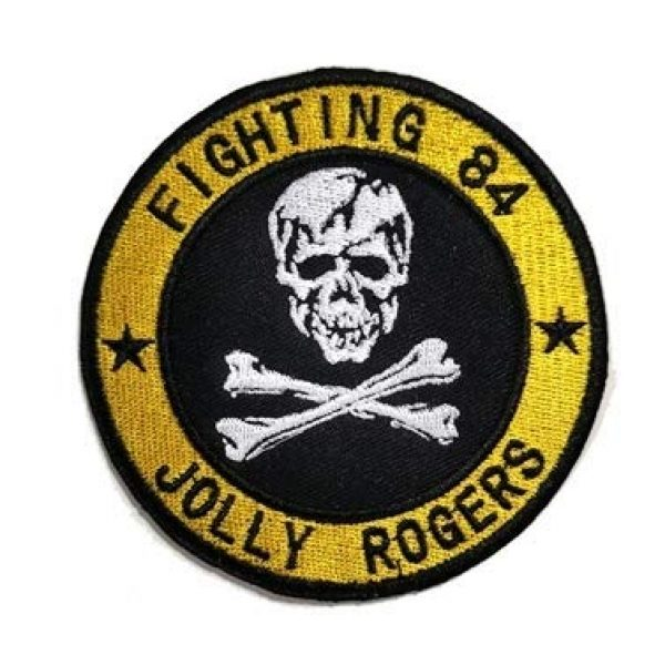 Embroidery Patch Airsoft Morale Patch 1 VF-84 Jolly Rogers Fighter Squadron Embroidery Patch Military Tactical Clothing Accessory Backpack Armband Sticker Gift Patch Decorative Patch Embroidered Patch