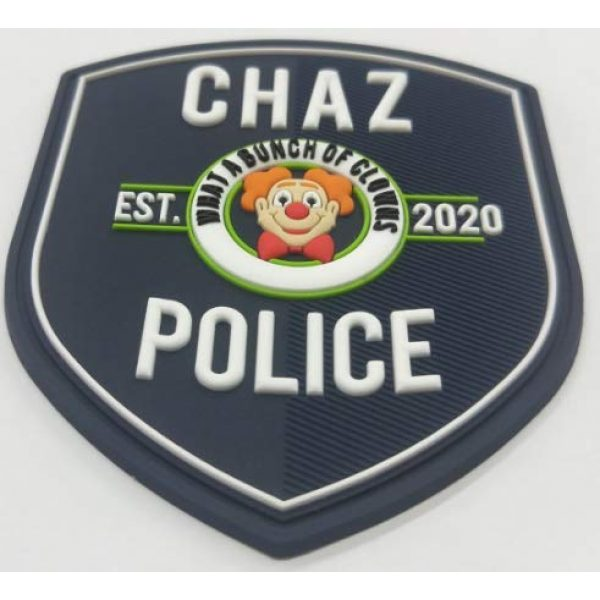 """TUFF Airsoft Morale Patch 3 Funny Chaz PD Morale Patch 3.5"""" T x 3"""" Wide City of Chaz. Velcro Backed Patch. Glow in The Dark"""