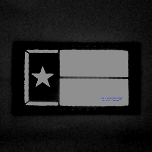 Tactical Freaky Airsoft Morale Patch 2 Multicam Infrared IR Texas Lone Star Flag 3.5x2 IFF Tactical Morale Fastener Patch