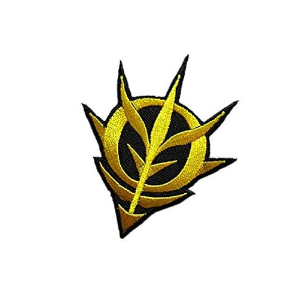 Embroidery Patch Airsoft Morale Patch 3 Mobile Suit Gundam -Zeon Military Hook Loop Tactics Morale Embroidered Patch (color1)