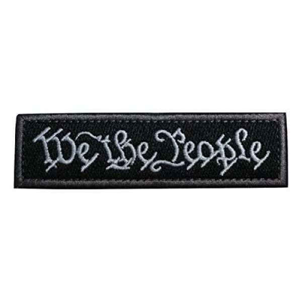 TrendyLuz USA Airsoft Morale Patch 1 TrendyLuz We The People US Constitution American Embroidered Hook & Loop Morale Patch