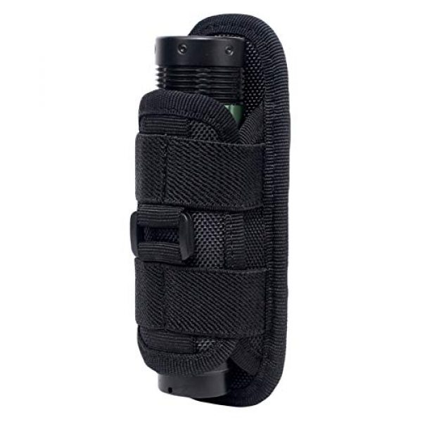 Qiaogeli Tactical Pouch 1 Qiaogeli Flashlight Pouch Holster Carry Case Holder with 360 Degrees Rotatable