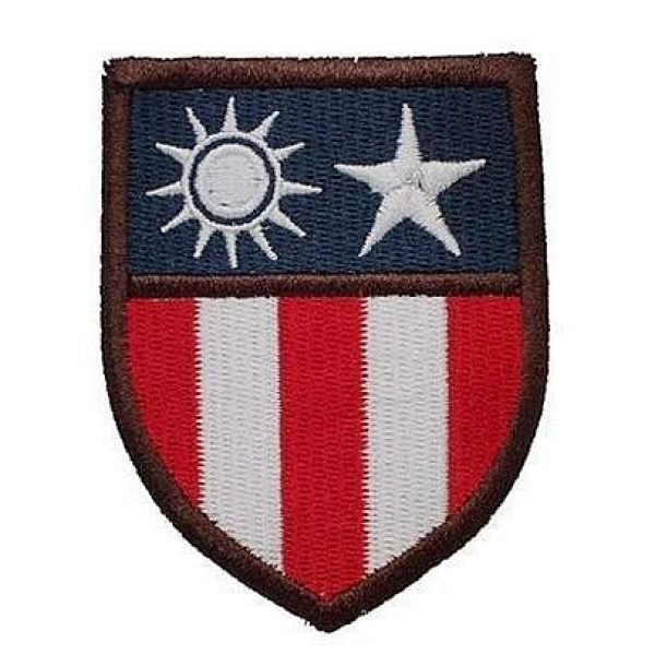 Embroidery Patch Airsoft Morale Patch 1 The Hump WWII 14TH USAAF Flying Tigers CBI China-Burma-India Theater Insignia Military Hook Loop Tactics Morale Embroidered Patch (color2)