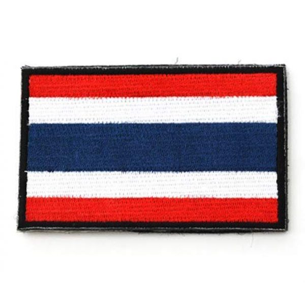 Tactical Embroidery Patch Airsoft Morale Patch 2 2pcs Thailand Flag Embroidery Patch Military Tactical Morale Patch Badges Emblem Applique Hook Patches for Clothes Backpack Accessories