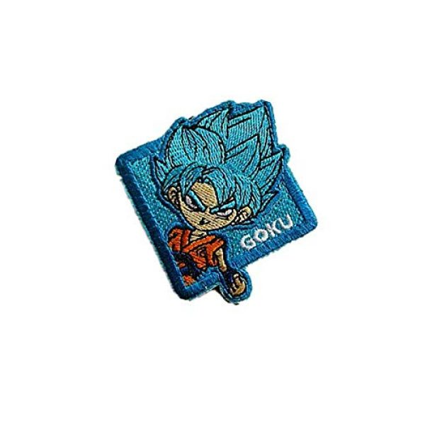 Embroidery Patch Airsoft Morale Patch 3 Dragon Ball Z Goku Super Goku Anime Military Hook Loop Tactics Morale Embroidered Patch