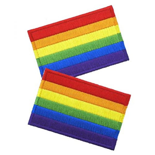 Graphic Dust Airsoft Morale Patch 2 Graphic Dust Rainbow Flag Sign Gay LGBT Lesbian Embroidered Iron on Patch Logo Gay Pride Festival Rights Love DIY Heart Sign Symbol