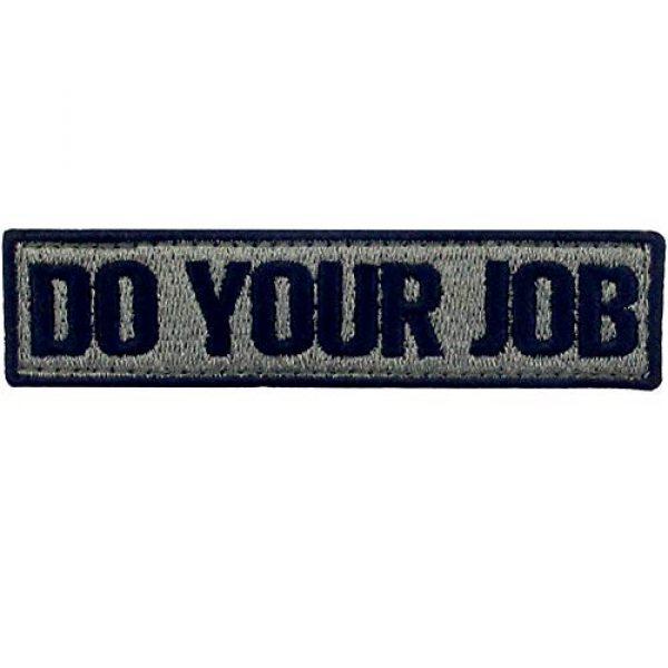 EmbTao Airsoft Morale Patch 1 Do Your Job Embroidered Patch Tactical Morale Applique Fastener Hook & Loop Emblem, Olive & Black