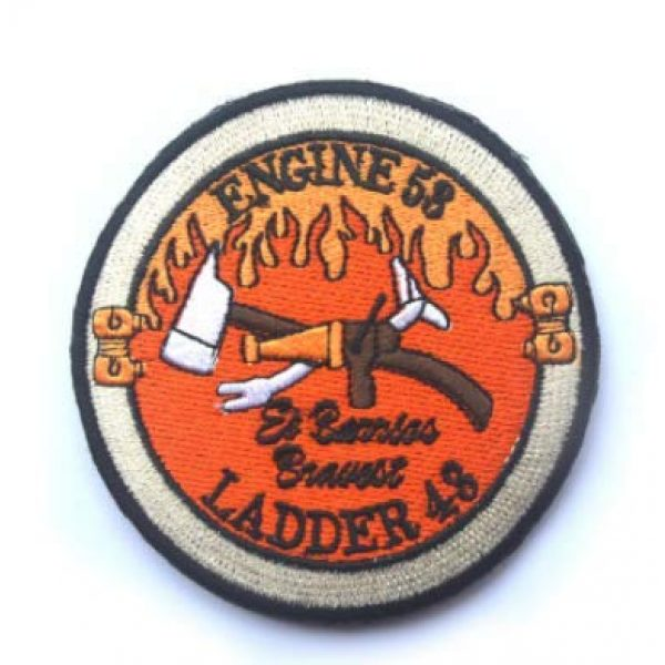 Embroidered Patch Airsoft Morale Patch 1 Navy Seal Operation Red Wing Murphy Engine 53 Ladder 43 Firefighter 3D Tactical Patch Military Embroidered Morale Tags Badge Embroidered Patch DIY Applique Shoulder Patch Embroidery Gift Patch