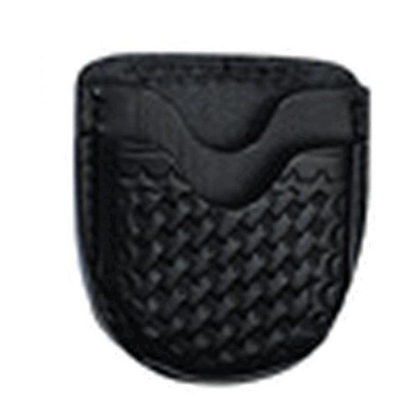 Boston Leather Tactical Pouch 1 Boston Leather 5515-3 Black Basketweave Top Grain Open Top Cuff Case