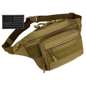 Protector Plus Tactical Pouch 1 Protector Plus Tactical Fanny Pack Military Running Waist Bag Sling Hip Belt MOLLE Army Lumbar Gear Pouch Bumbag (Patch Included)