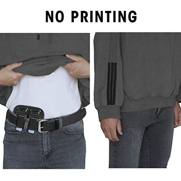 AIKATE Tactical Pouch 7 Universal Double Magazine Pouch for 9mm .40 .45 .380 .357, IWB Mag Holster Concealed Cary for Double Stack, Mag Holder for Glock 19 43 17 1911 S&W M&P, Fits Any 7 10 15 Round Clip for All Pistols Ammo