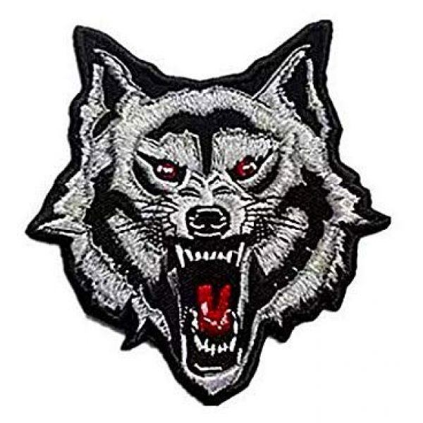 Embroidery Patch Airsoft Morale Patch 1 Grey Arctic Wild Lone Wolf Patch Military Hook Loop Tactics Morale Embroidered Patch