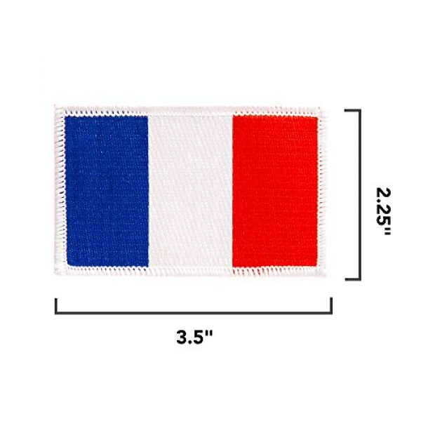 Desert Cactus Airsoft Morale Patch 2 France Flag Patch Bulk 3-Pack 3.5Wx2.25H State Iron On Sew Embroidered Tactical Morale Back Pack Hat Bags French (3-Pack Patch)