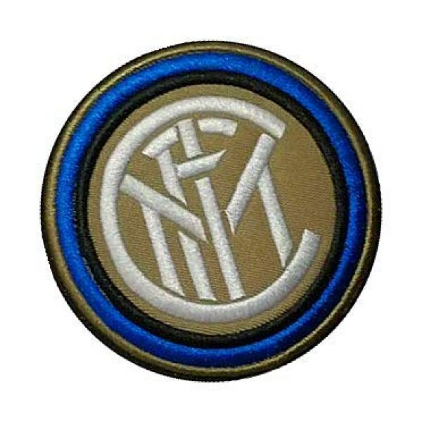 Embroidery Patch Airsoft Morale Patch 2 Italy Inter Milan Football Soccer Club Military Hook Loop Tactics Morale Embroidered Patch