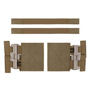 KRYDEX Tactical Pouch 1 KRYDEX Quick Release Buckle Set,Single Point Molle Quick Disconnect Side Entry Conversion with Hoop and Loop for JPC CPC NCP XPC 420 Vest (Coyote Brown)