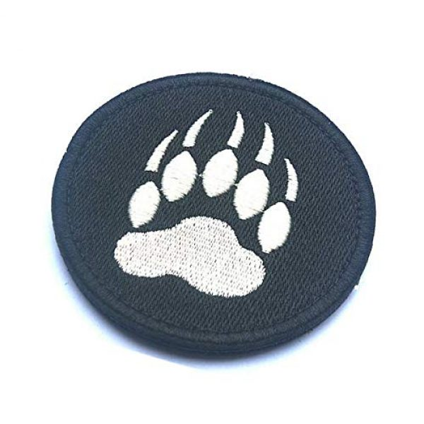 Embroidery Patch Airsoft Morale Patch 3 Bear Claw Tracker PAW Military Hook Loop Tactics Morale Embroidered Patch