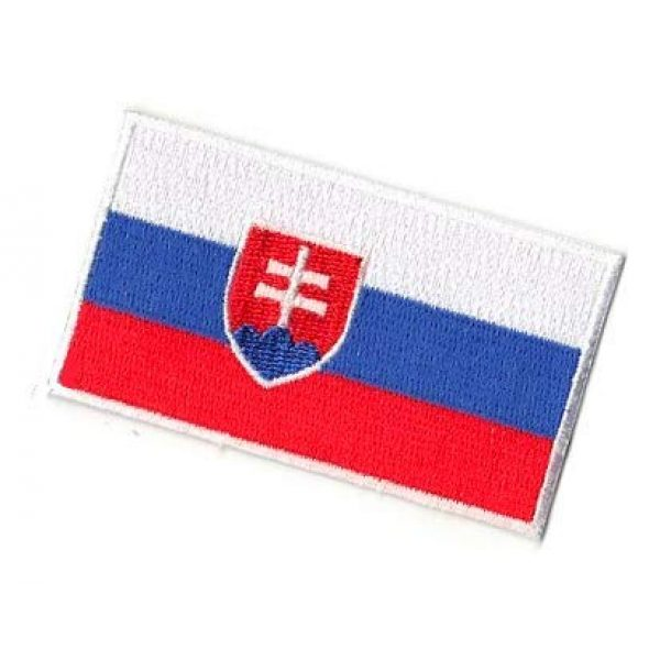 Embroidery Patch Airsoft Morale Patch 3 Slovakia Flag Patch Military Hook Loop Tactics Morale Embroidered Patch