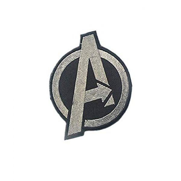 Embroidery Patch Airsoft Morale Patch 2 Marvel Comics Avengers Classic 'A' Logo Military Hook Loop Tactics Morale Embroidered Patch