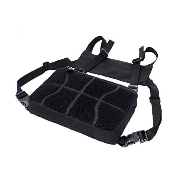 AegisTac Tactical Pouch 4 AegisTac Tactical Chest Rig Bag Recon Kit Bags Combat Chest Pack Radio Chest Harness Molle Vest Bags Front Pouch Tool Pouch EDC Carry Pouch