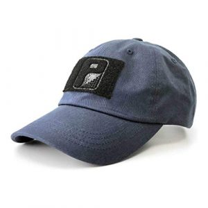 P PULLPATCH Tactical Hat 1 Pull Patch Tactical Hat | Authentic Classics Dad Cap with Buckle Closure | 2x3 in Hook and Loop Surface to Attach Morale Patches | 6 Panel | Navy Blue | Free US Flag Patch Included