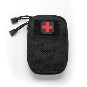 BIHIKI Tactical Pouch 1 BIHIKI Medical Pouch, First Aid Bag Tactical Pouch for Camping Climbing Traveling Outdoor Activities, Bag Only