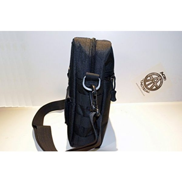 Acid Tactical Tactical Pouch 3 Acid Tactical MOLLE First Aid Bag Pouch Trauma EMT Medic Utility - Black