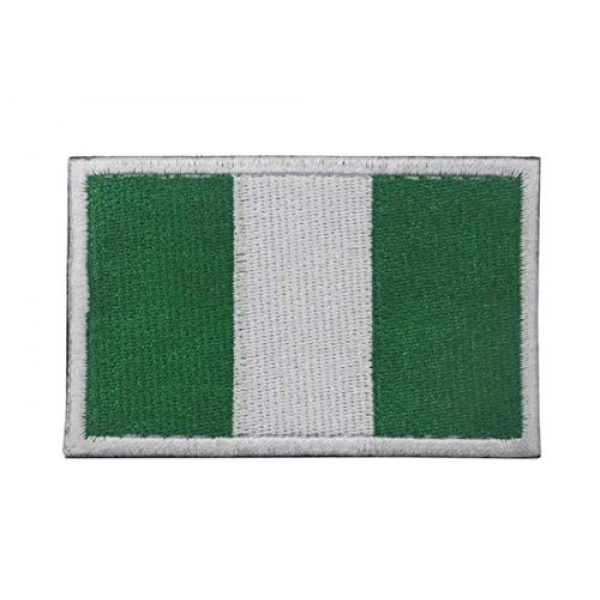 Tactical Embroidery Patch Airsoft Morale Patch 1 Nigeria Flag Embroidery Patch Military Tactical Morale Patch Badges Emblem Applique Hook Patches for Clothes Backpack Accessories