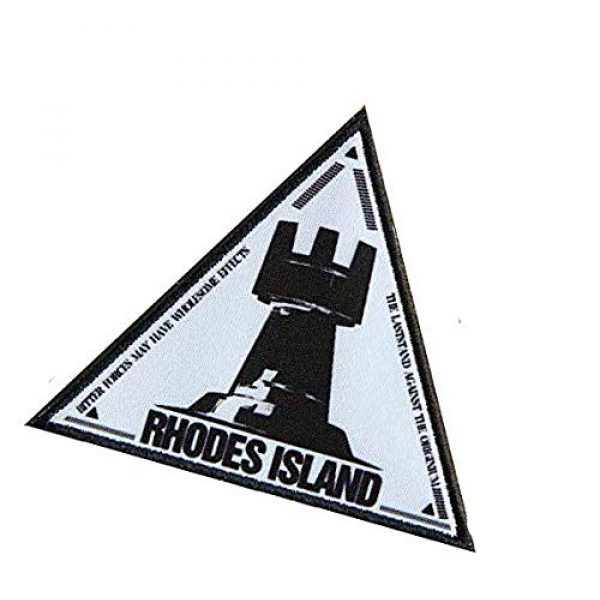 Fine Print Patch Airsoft Morale Patch 3 Arknights Rhodes Island Military Hook Loop Tactics Morale Printed Patch